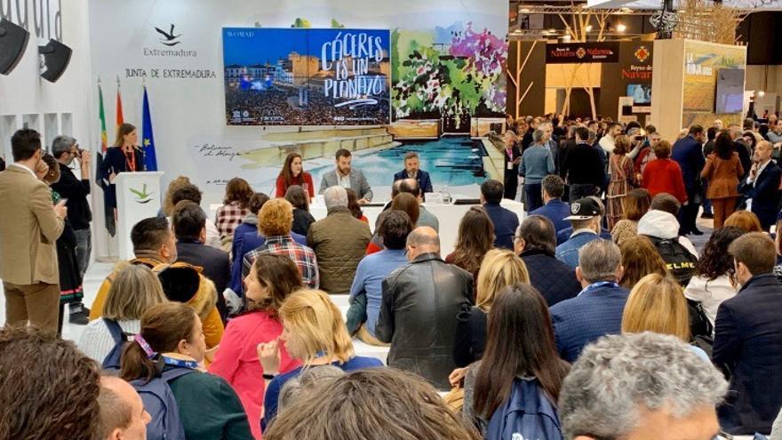 Presentación oficial de la oferta turística de Cáceres en FITUR