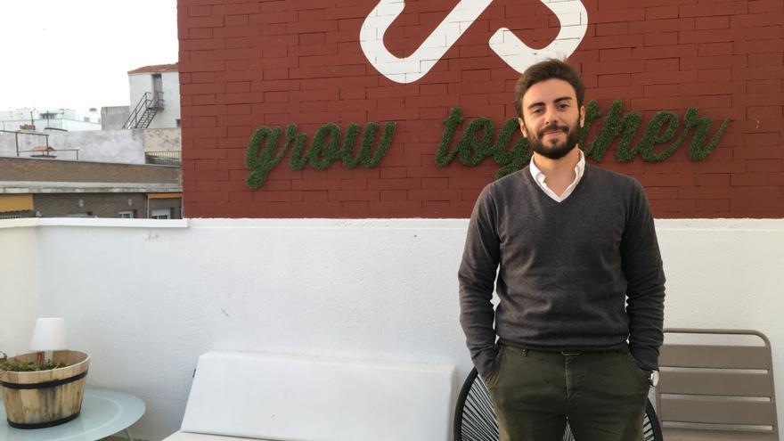 Álvaro Domínguez, uno de los primeros habitantes del 'coliving' Urban Campus en Madrid