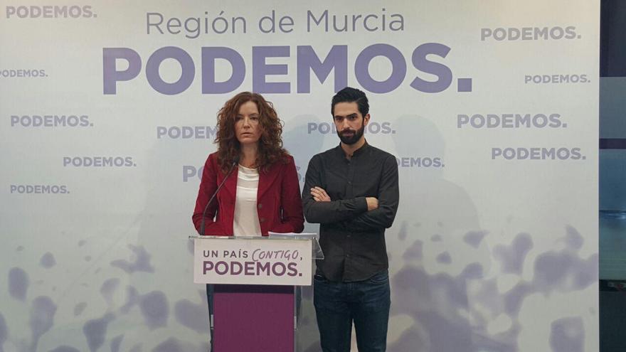 María Ángeles García Navarro y Enrique Molina, Diputados de Podemos, Asamblea Regional de Murcia