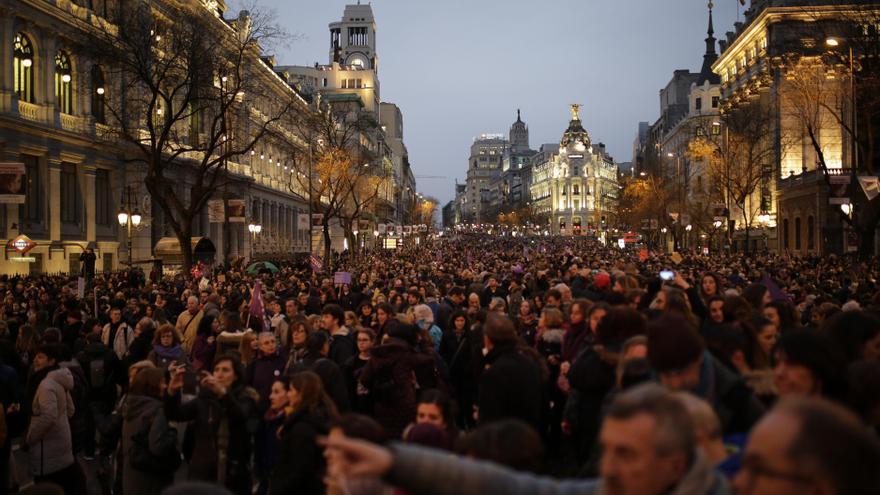 La manifestación del 8M llena las calles de Madrid