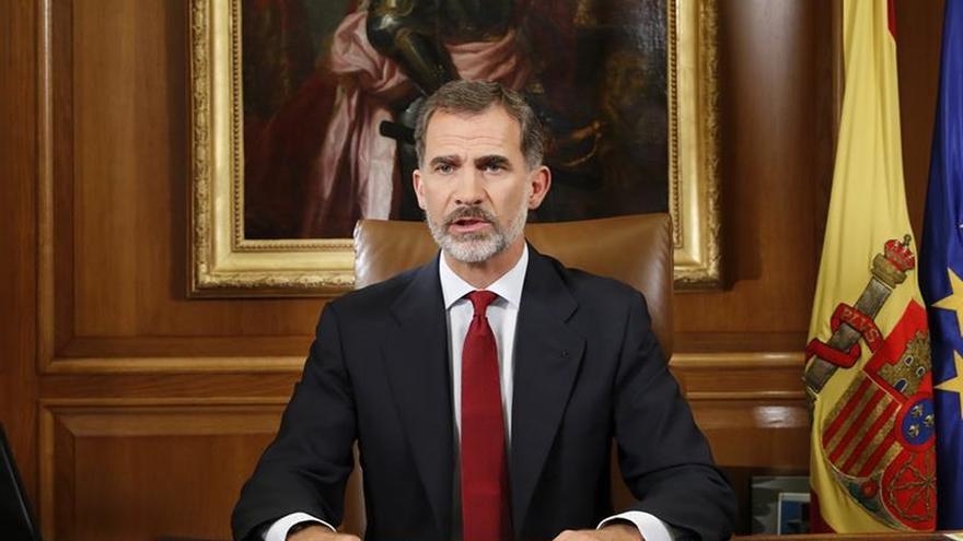 El rey Felipe, en su discurso del 3 de octubre.