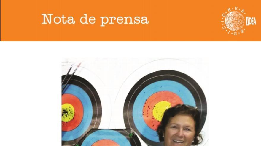Portada  de la biografía de la arquera de La Palma Pilar Luque Plasencia.