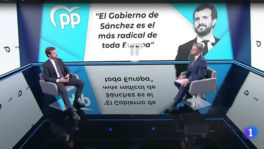 Entrevista a Pablo Casado en TVE.