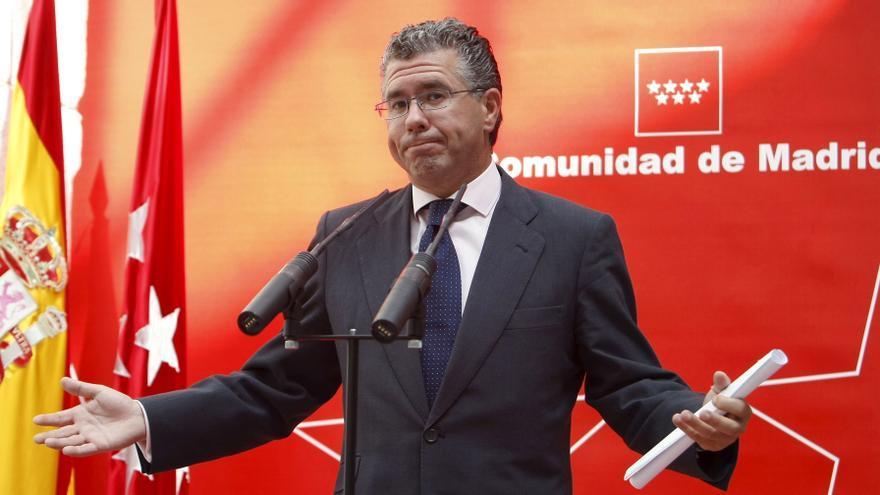 Francisco Granados, en un acto cuando era consejero de Presidencia de la Comunidad de Madrid.