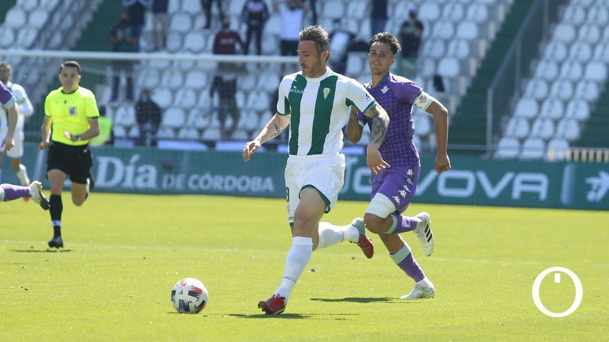 Piovaccari, ante el Betis Deportivo en El Arcángel.