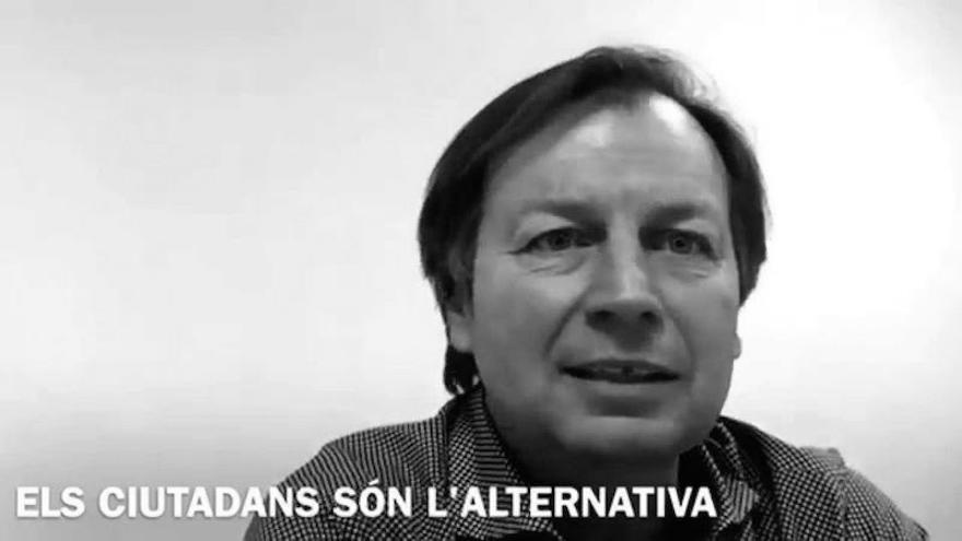 Isidor Mollà, en una captura del vídeo con el que concurrió con Ciudadanos a las últimas elecciones municipales.