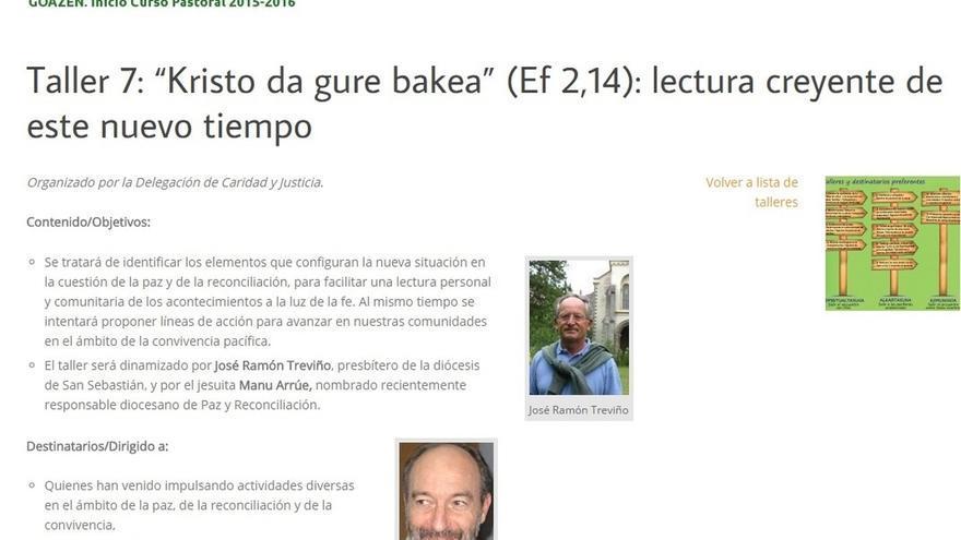 La Diócesis de Bilbao invita a un cura condenado por colaborar con ETA para dirigir un taller sobre paz