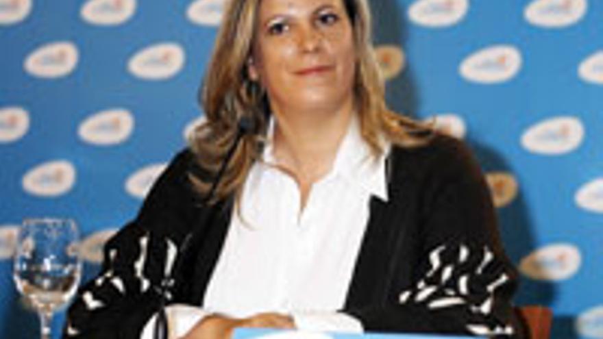 Rita Martín, la mar de contenta.