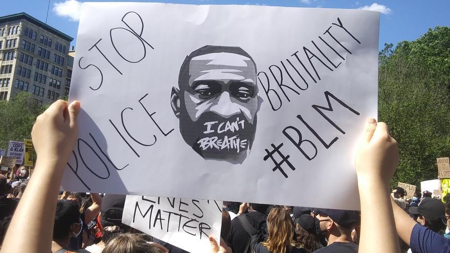 Manifestación en Nueva York por la muerte de George Floyd a manos de la policía en Minneapolis