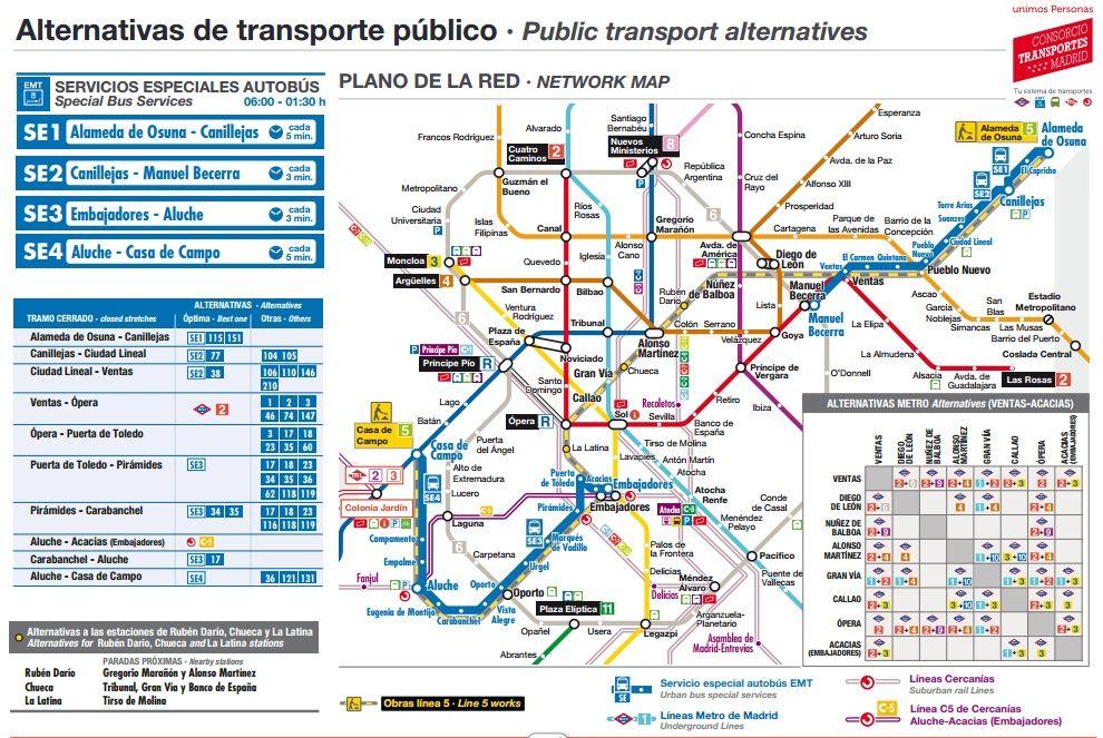 Gu a til para sobrevivir al cierre de la l nea 5 de metro Metro santo domingo madrid