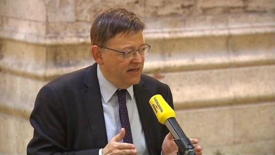 Ximo Puig, en la entrevista con Catalunya Ràdio.