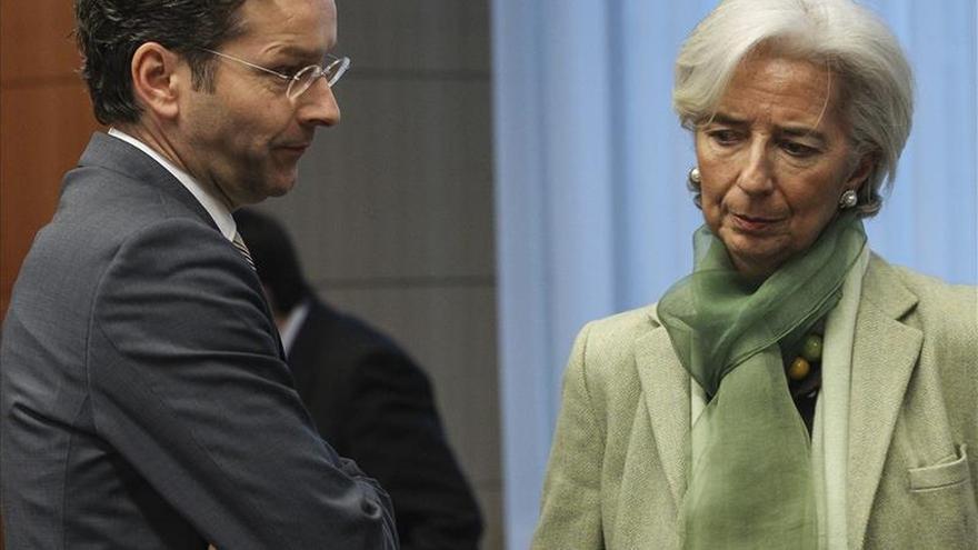 El presidente del Eurogrupo, Jeroen Dijsselbloem, y la directora general del FMI, Christine Lagarde, en una imagen de archivo. / Foto: EFE