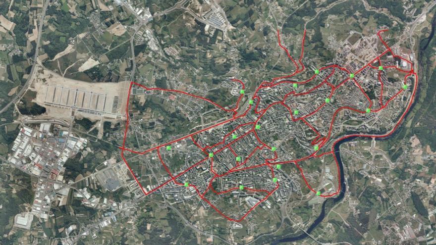 Propuesta de vías ciclistas en Lugo