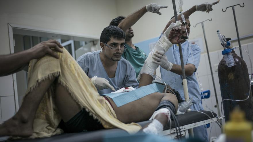 Sala de emergencias en el hospital de MSF en Aden. Foto: Guillaume Binet/MYOP