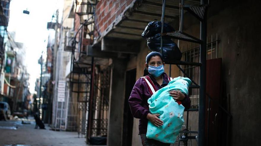 Imagen de una villa miseria de Buenos Aires.