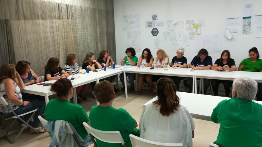 Reunión de representantes de las kellys y las aparadoras.