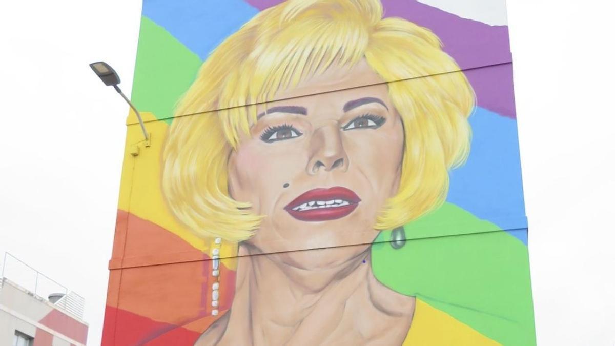 El mural, homenaje para Xayo, se encuentra ubicado en su ciudad natal, Guía