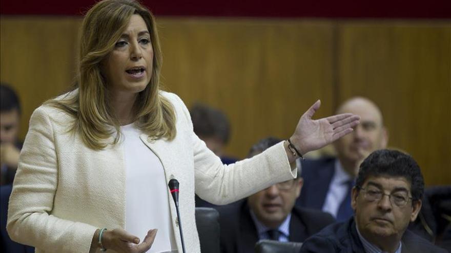 Susana Díaz abre con su intervención en el pleno el debate de investidura