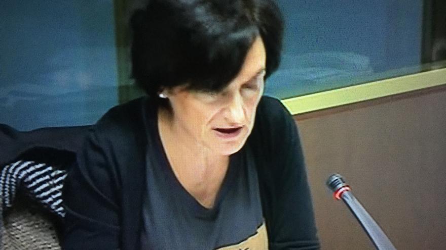 La directora general de EITB, Maite Iturbe, en su comparecencia en el Parlamento vasco.