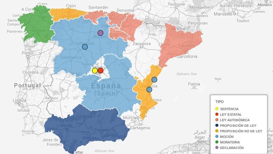 Captura mapa fracking