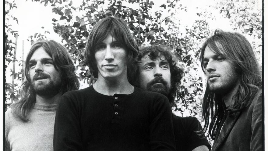 Los integrantes de Pink Floyd en 1971