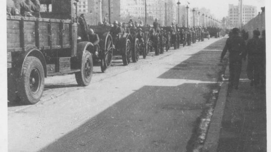Caravana militar en Barcelona