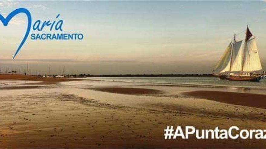 Cartel de precampaña del PP en Punta Umbría