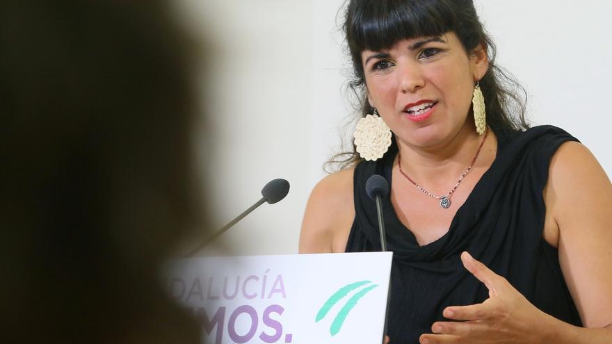 """Teresa Rodríguez dice que """"no es de recibo"""" que Susana Díaz no dé explicaciones en el Parlamento sobre tarjeta de Faffe"""