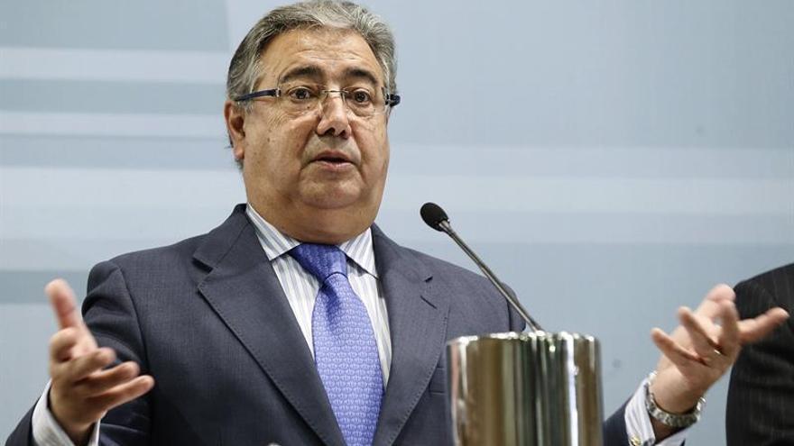 El ministro del Interior, Juan Ignacio Zoido, durante la presentación del balance de criminalidad 2016. EFE/Fernando Alvarado