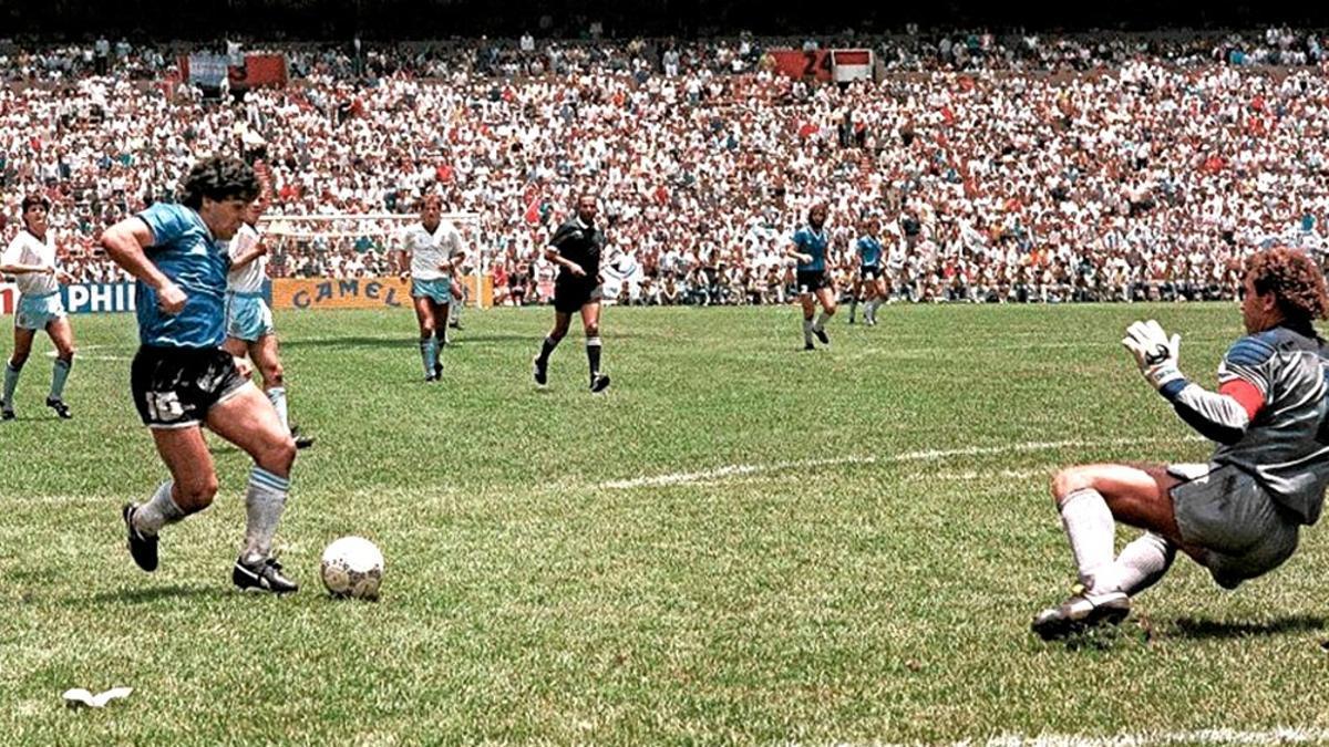 El segundo gol de Maradona a Inglaterra en el Mundial de 1986