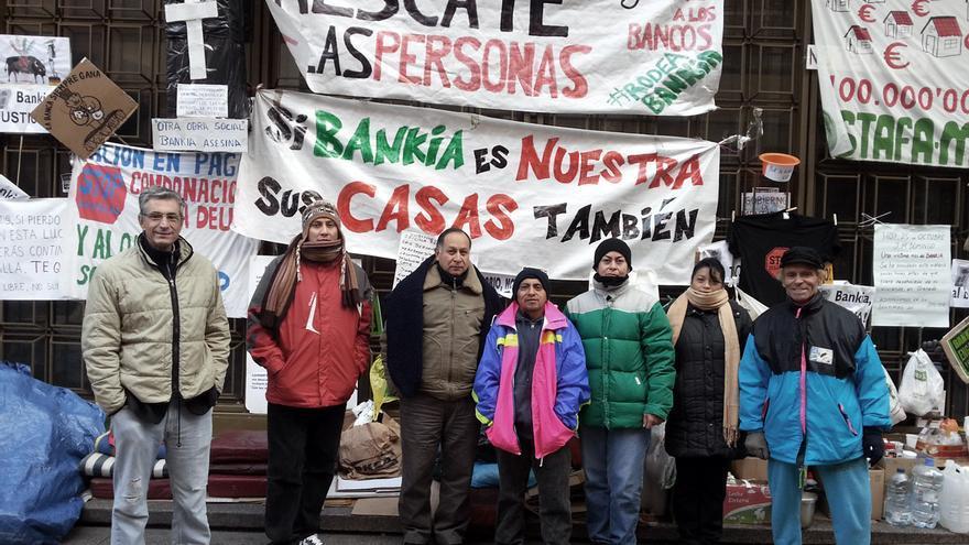 Pza.Celenque - Protesta Bankia Acampada PAH Gente