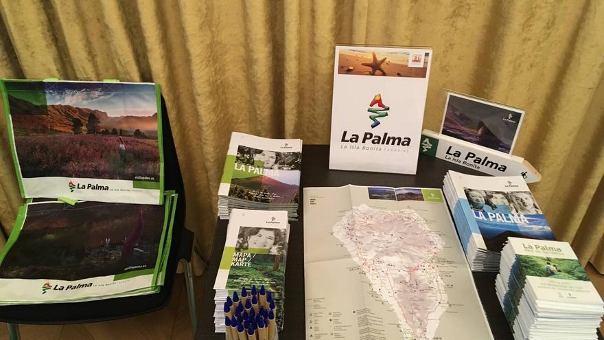 Material de promoción de La Palma en Alemania.