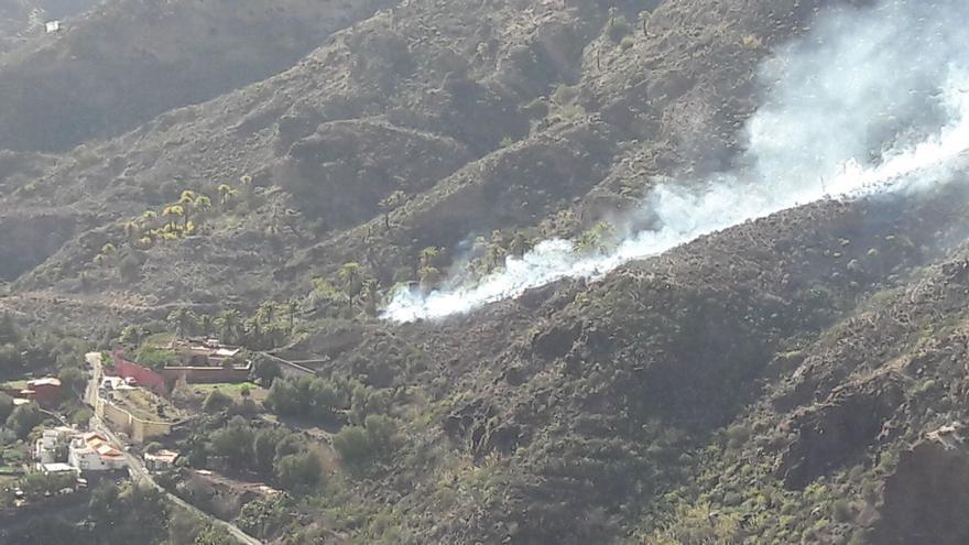 Incendio declarado en el sur de Gran Canaria.