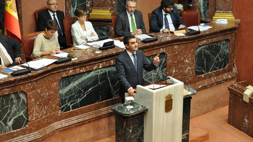 El diputado de Ciudadanos Miguel Ángel López-Morell en la tribuna de la Asamblea Regional de Murcia