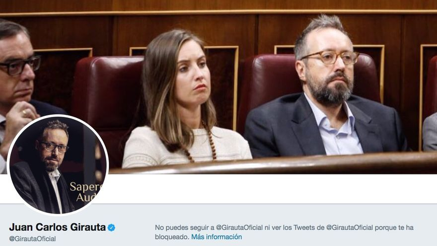 Pantalla con el mensaje de bloqueo por Girauta.