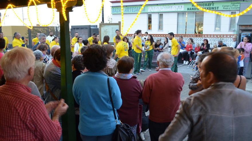 Imagen de archivo de inicio de la Navidad 2015/16 en Fuencaliente.