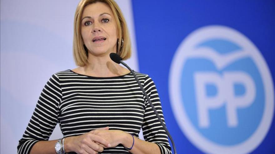 """Cospedal: el PP ha hecho """"lo que tenía que hacer"""" con Arístegui y De la Serna"""