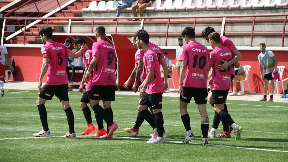 Jugadores del Ciudad de Lucena durante un partido