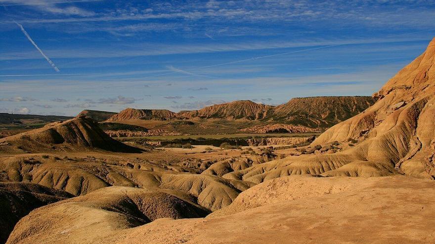 Un paraje de las Bardenas Reales. Foto. Turismo de Navarra