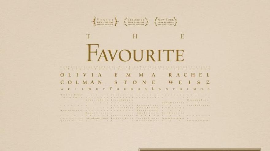 Cartel 'La favorita'