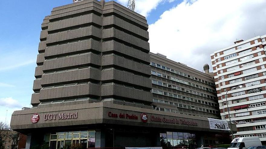 Sede de la Federación estatal de Servicios, Movilidad y Consumo de UGT, en Madrid.