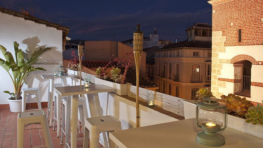 Terraza de Dulces&Dreams Hostels