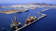 Vista aérea del Puerto de La Luz y de Las Palmas