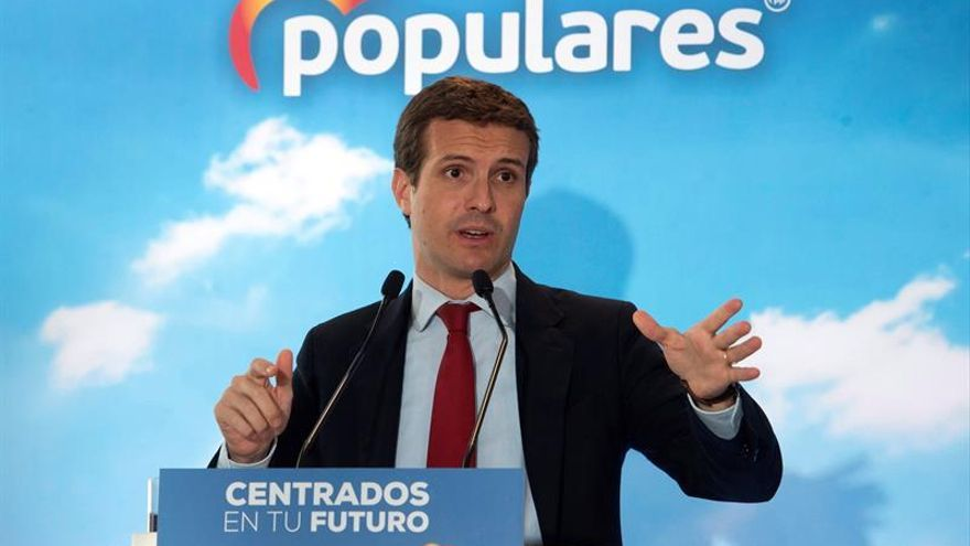 Casado dice que prefiere el apoyo de Cs a Sánchez que la repetición de elecciones