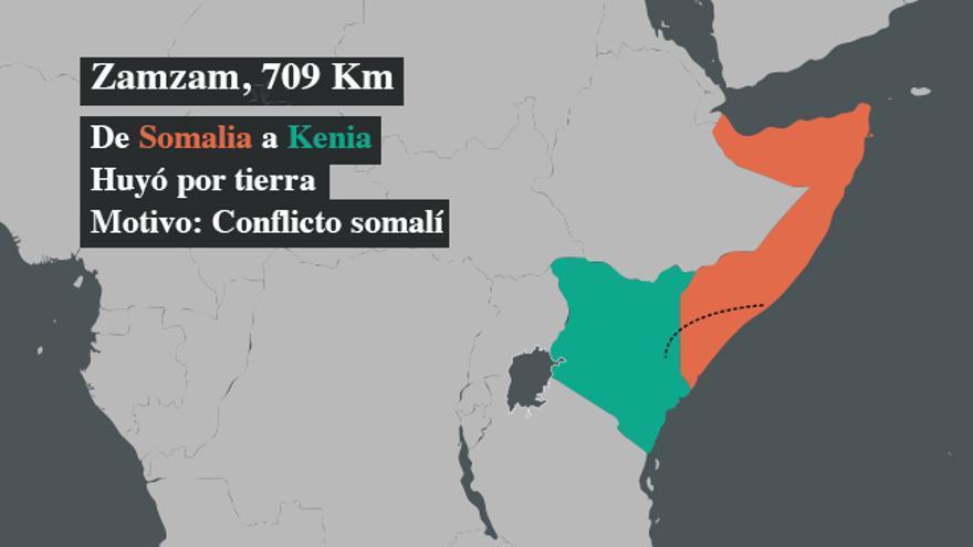 ZamZam llegó al campo de refugiados de Dadaab (Kenia) huyendo del conflicto somalí