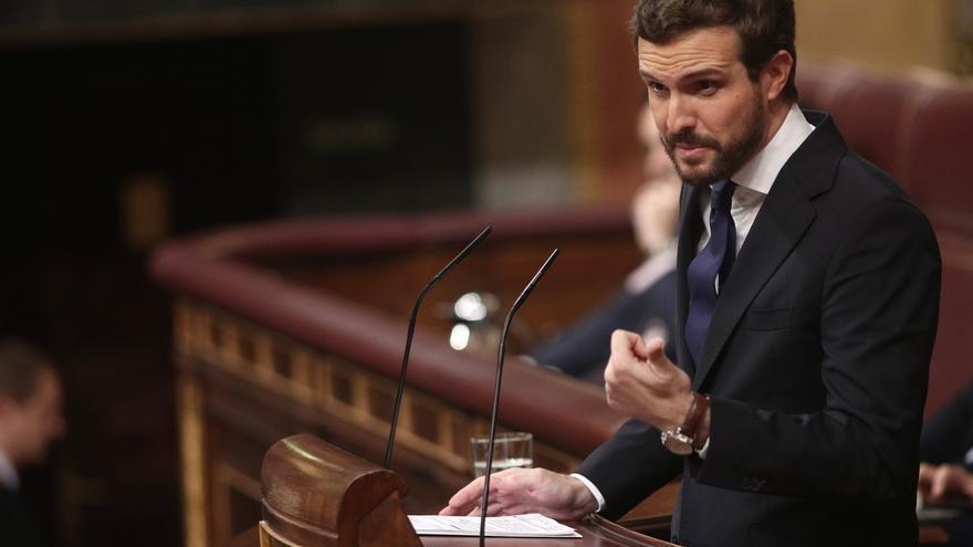 Casado insta a Sánchez a activar el 155 si Torra no deja el cargo o le avisa de que prevaricará si no lo hace