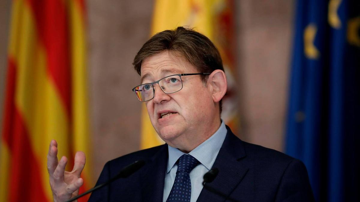 El presidente del Gobierno valenciano, Ximo Puig, en la comparecencia.