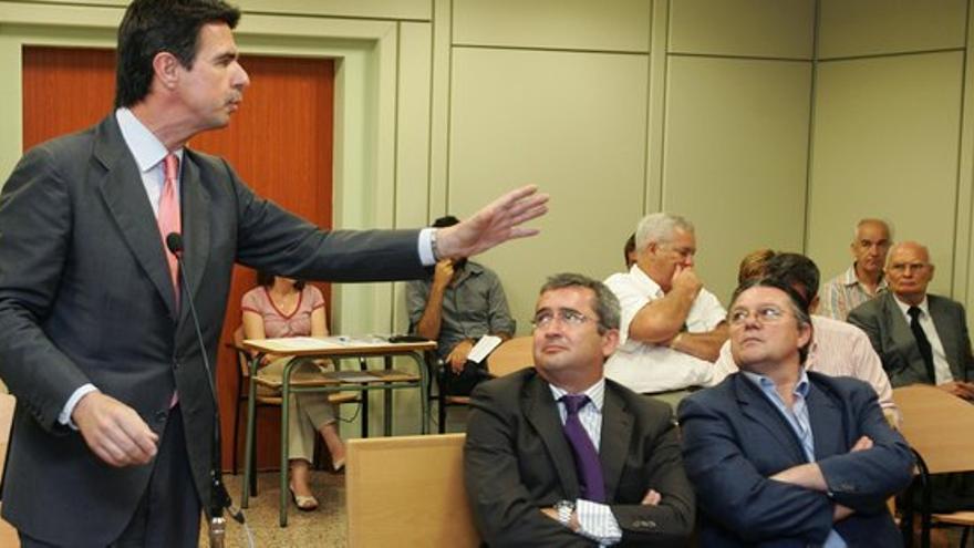 El vicepresidente del Gobierno de Canarias durante el juicio por el que ha sido condenado a las costas.