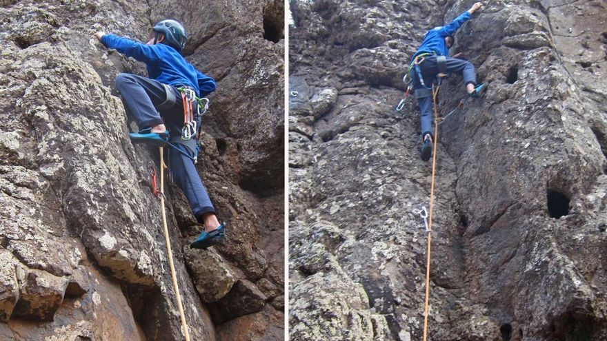 Zona de escalada en Valverde