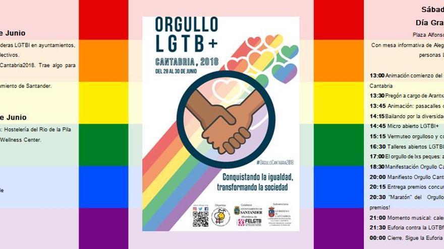 Programa de fiestas Orgullo LGTBI Cantabria